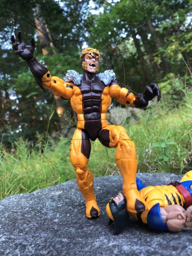 Sabertooth Kills Wolverine Marvel Legends Action Figure