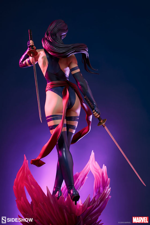 Back of Sideshow Exclusive Psylocke Premium Format Statue