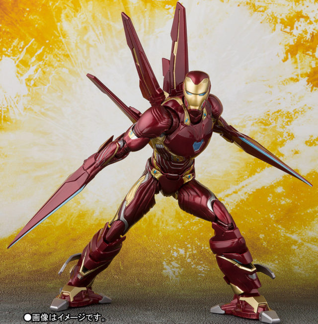 Bluefin Avengers Infinity War SH Figuarts Iron Man Mark 50 Figure with Blades