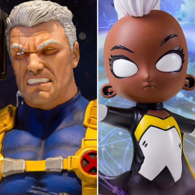 Marvel Animated Storm Statue and Cable Mini Bust Gentle Giant Ltd