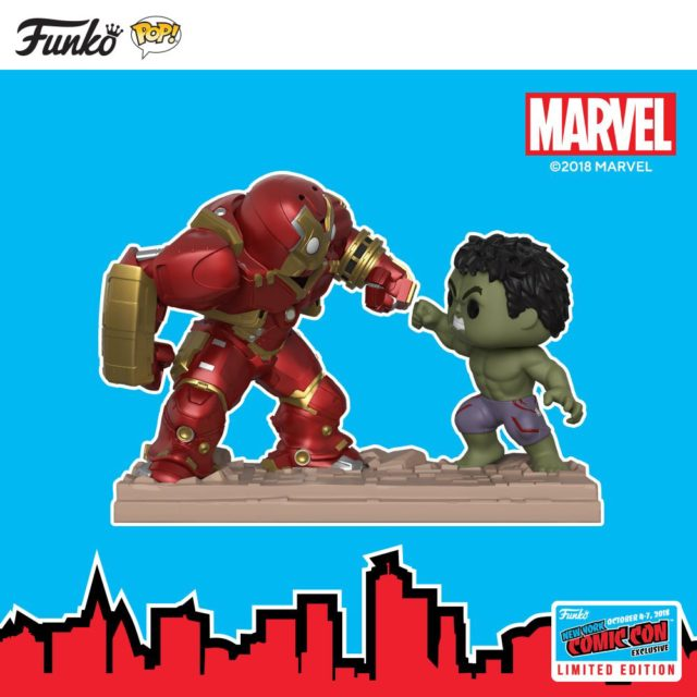NYCC 2018 Exclusive Funko POP Hulkbuster vs Hulk Movie Moments Set
