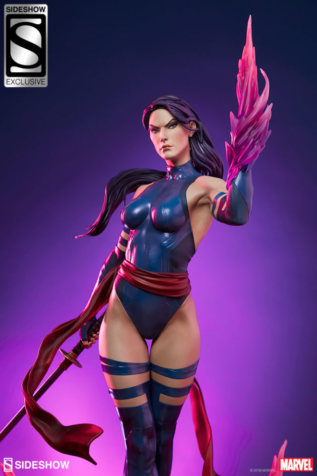 Psylocke EX Statue with Psyblade Sideshow Collectibles