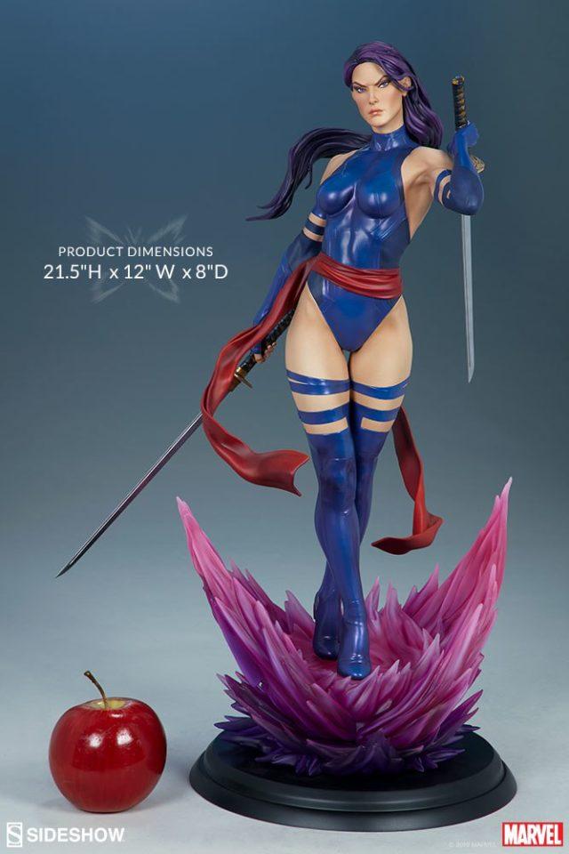Psylocke Premium Format Figure Size Scale Dimensions Sideshow Collectibles