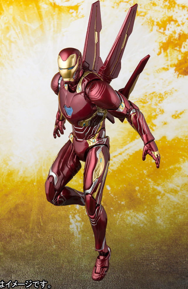 SH Figuarts Infinity War Iron Man with Nanon Weapons Set