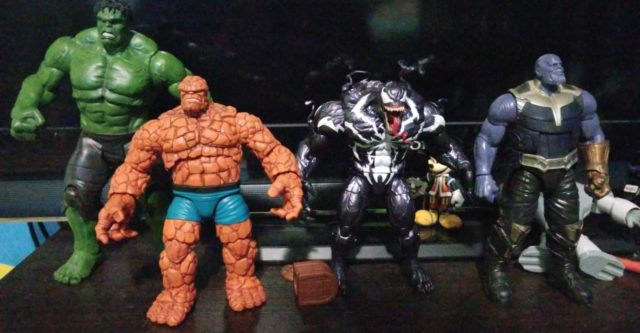Scale Photo of Marvel Legends Thing Thanos Monster Venom
