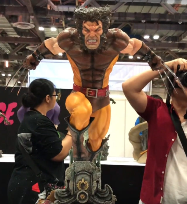 XM Studios Brown Wolverine Statue Unmasked Logan Head