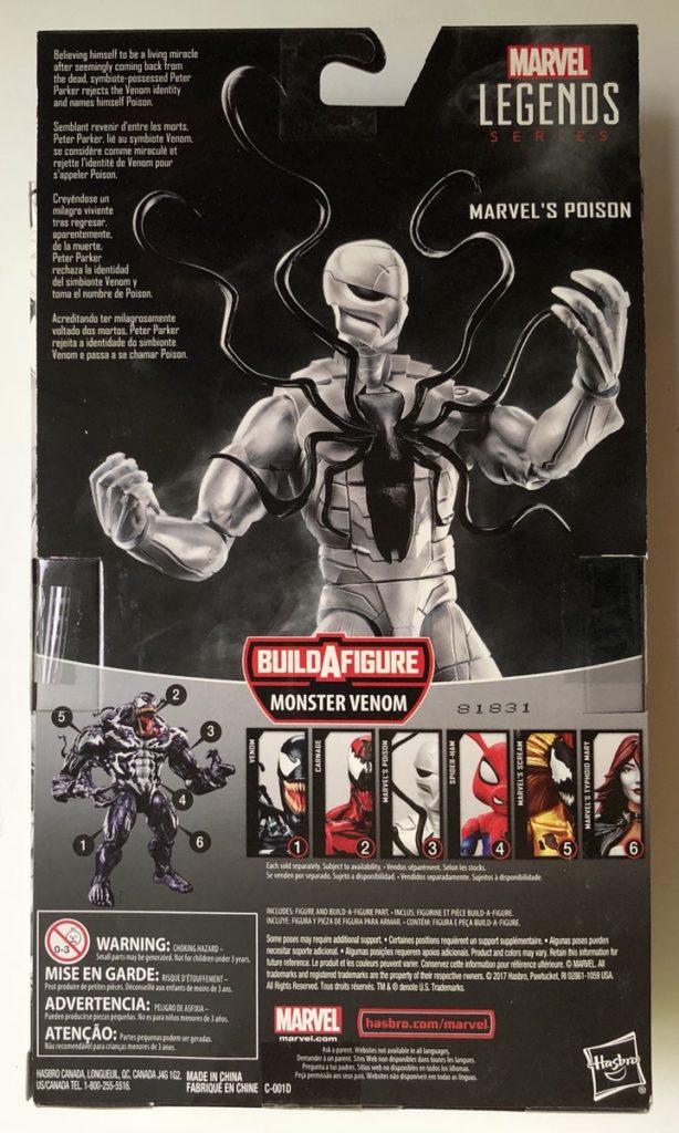 Venom Legends Poison Spider-Man Box Back