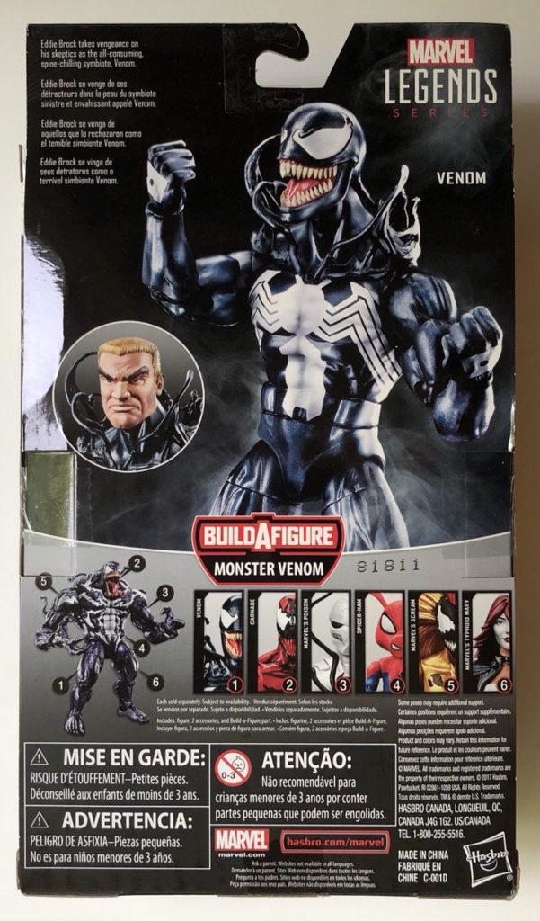 Box Back Venom Legends Eddie Brock Six Inch Figure