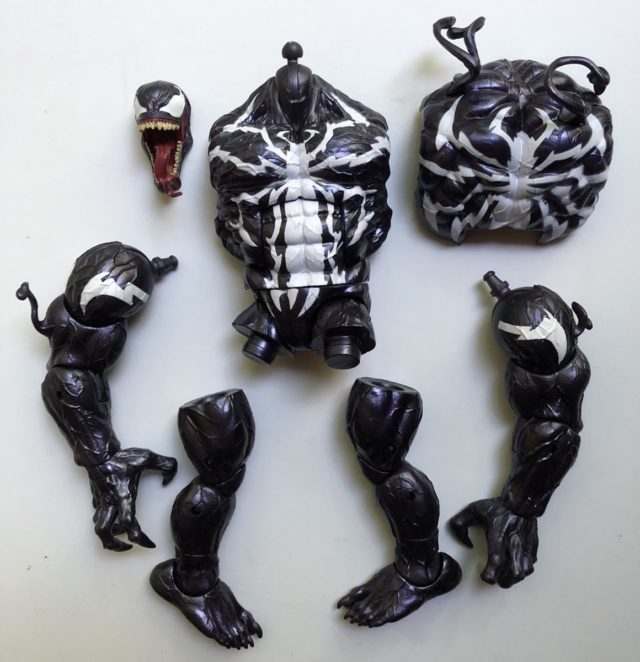 Venom Marvel Legends Series Monster Venom Build-A-Figure Pieces Unassembled Complete