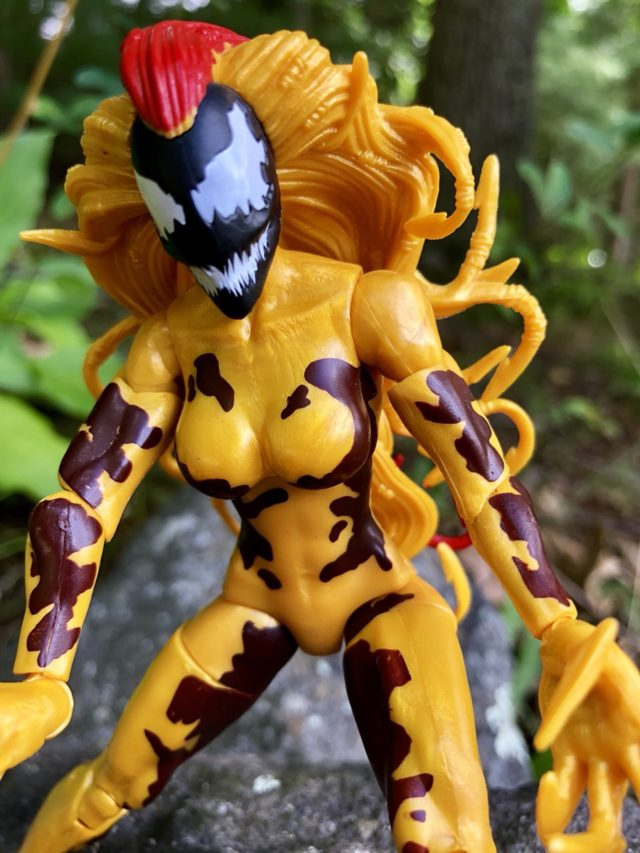 Close-Up of Marvel Legends Female Symbiote Scream Action Figure