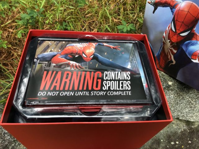 Spider-Man PS4 Spoiler Warning Collector Edition Box