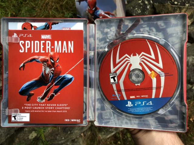 Inside Spider-Man PS4 Steelbook DLC Code