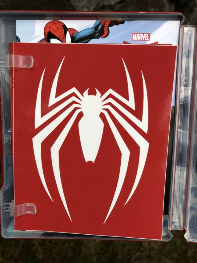 White Spider-Man Logo Sticker from Playstation 4 Collector's Edition