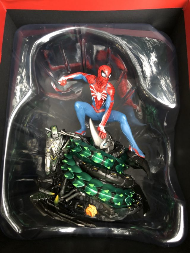PS4 Spider-Man Statue In Box Packaging