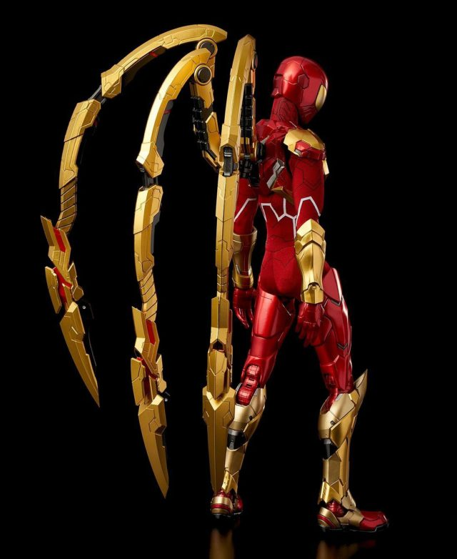 Back of Sentinel RE EDIT Iron Spider 11 Inch Figure