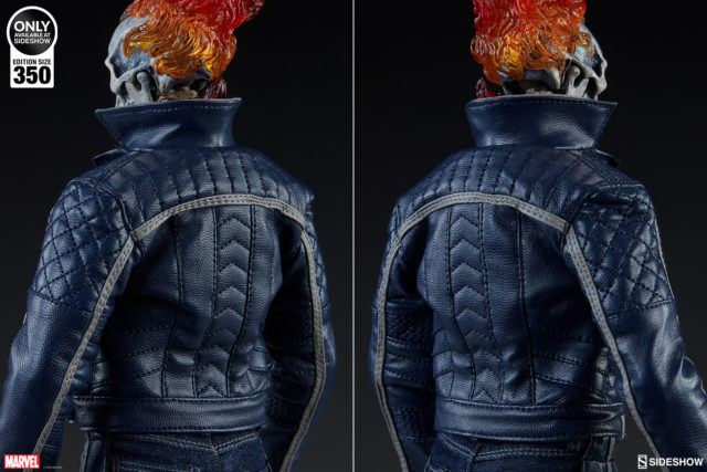 Classic Ghost Rider Sideshow 12 Inch Figure Jacket Back