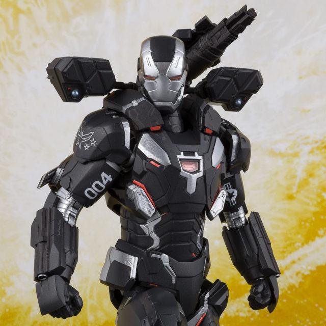 Close-Up of Infinity War SH Figuarts War Machine Mark 4 Figure