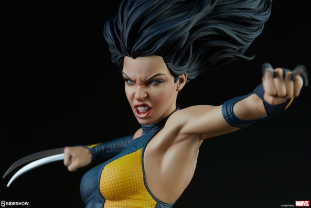 Close-Up of X-23 Sideshow Premium Format Figure Head