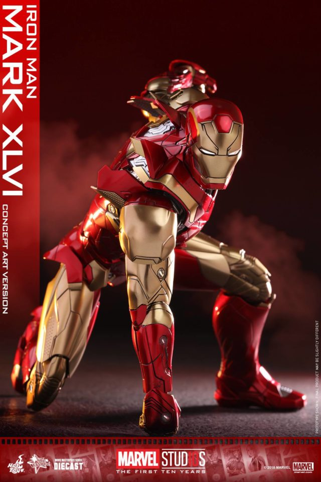 Concept Art Iron Man Hot Toys MMS Die-Cast Figure Punching Ground