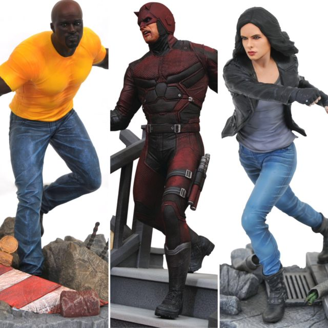 Diamond Select Toys Netflix Daredevil Resin Statue and Luke Cage Jessica Jones Gallery PVC Figures