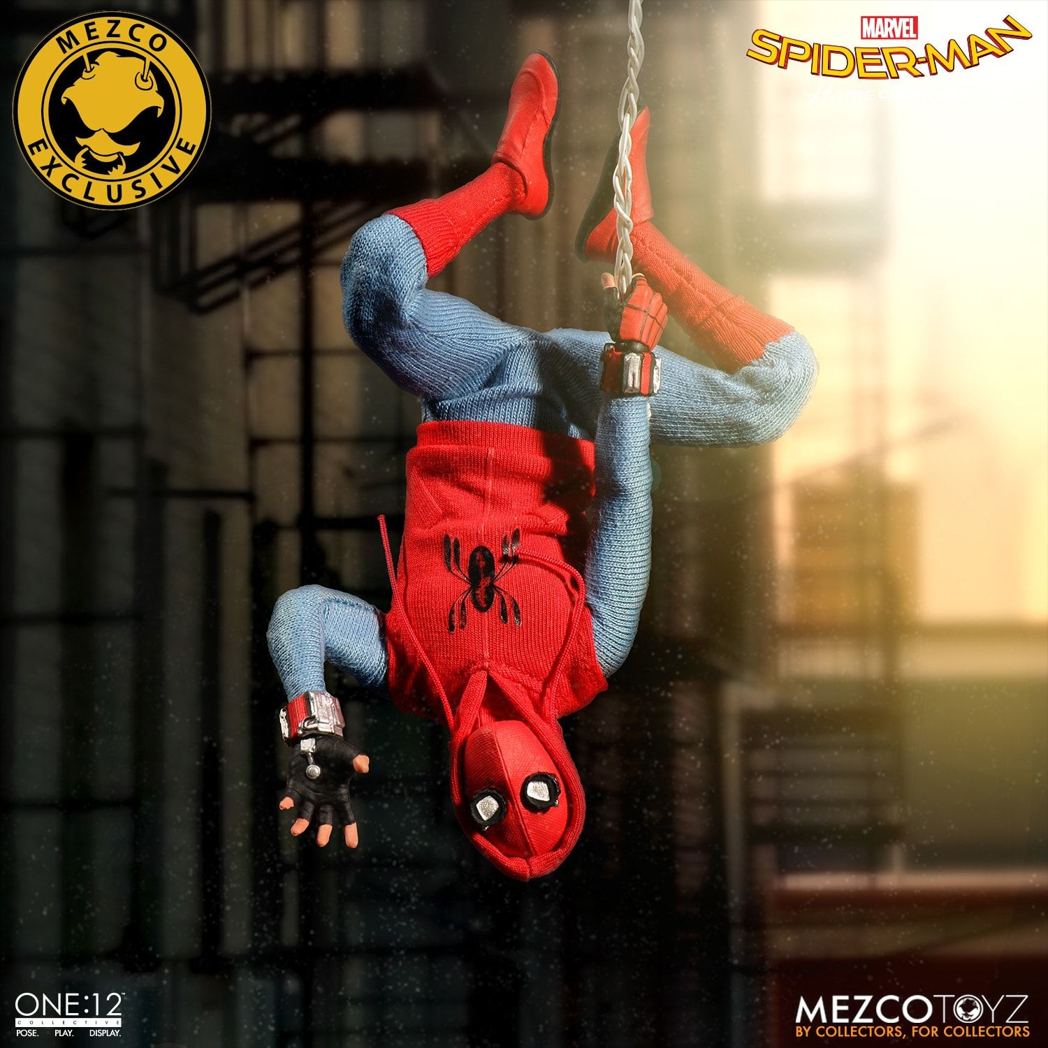 Can't make posts either. Homemade-Suit-Spider-Man-Mezco-ONE12-Collective-Figure-Hanging-Upside-Down
