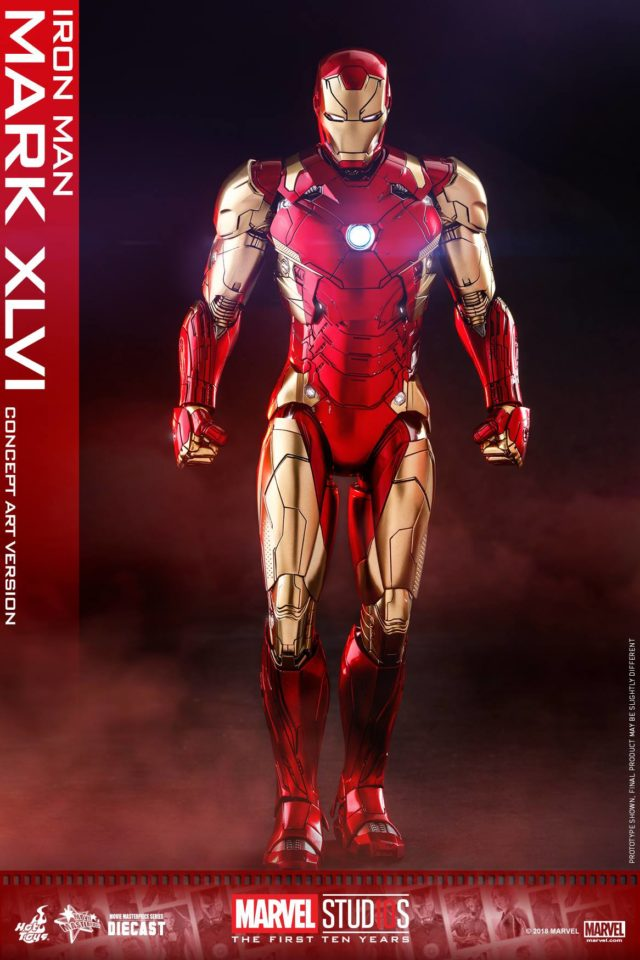Hot Toys 10 Years of Marvel Studios Iron Man Concept Art Version Figure
