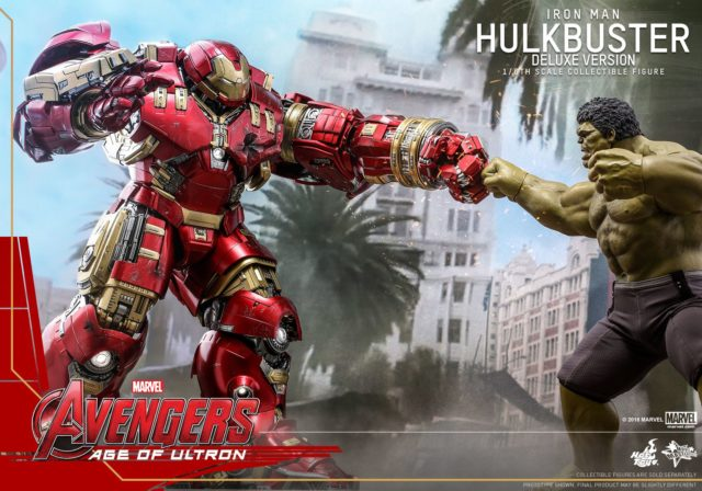 Hot Toys Age of Ultron Deluxe Hulkbuster Iron Man vs Hulk Sixth Scale Figures