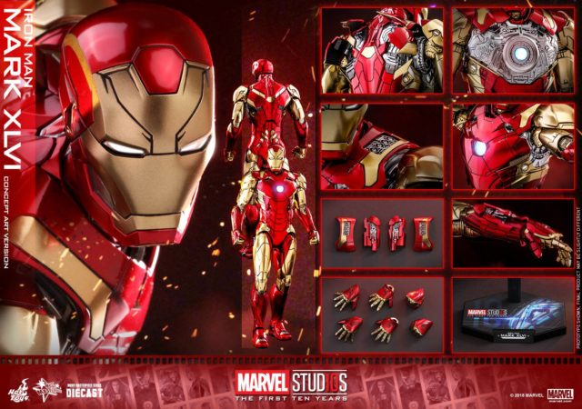 Hot Toys Concept Art Iron Man Mark 46 Figure and Accessories