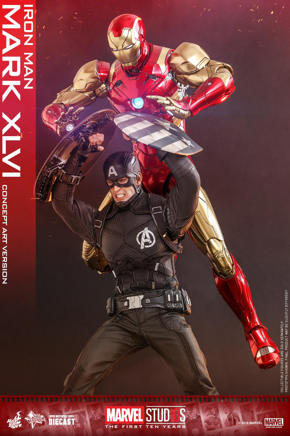 Exclusive Hot Toys Concept Art Iron Man Mark 46 Die Cast Up For