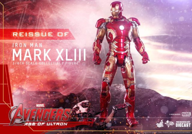 Iron Man Mark 43 Hot Toys Reissue Diecast Figure