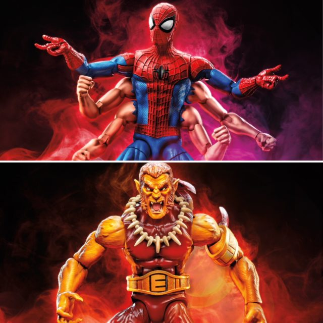 Lucca Marvel Legends Six Armed Spider-Man and Puma Figures
