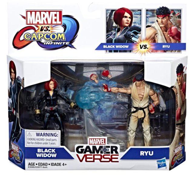 Marvel GamerVerse Ryu vs Black Widow Figures Two Pack Packaged
