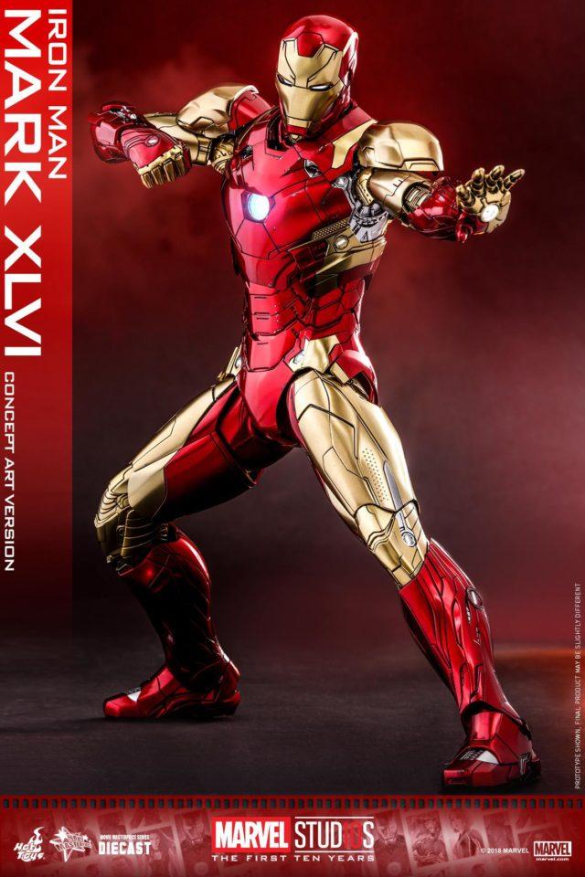 Marvel Studios Hot Toys Mark 46 Iron Man Die-Cast Figure Concept Version