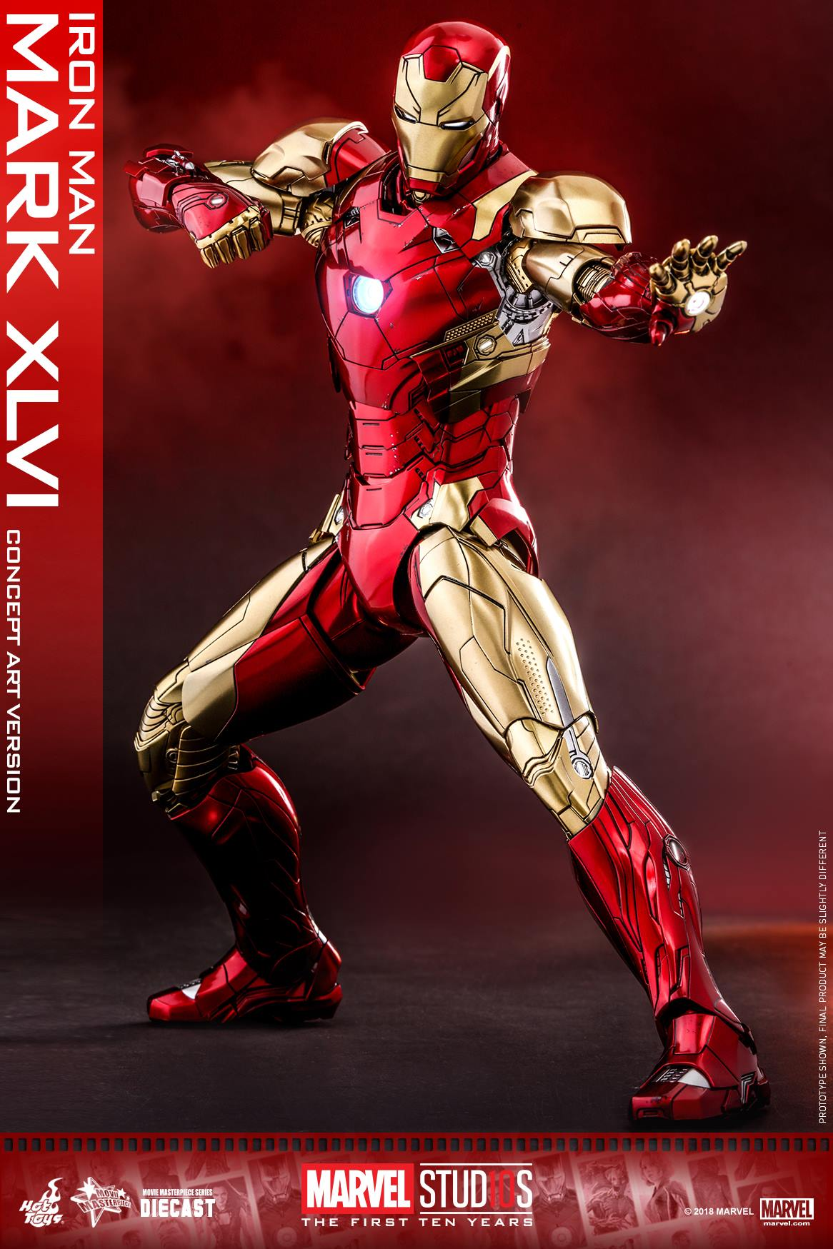 EXCLUSIVE Hot Toys Concept Art Iron Man Mark 46 Die-Cast ...