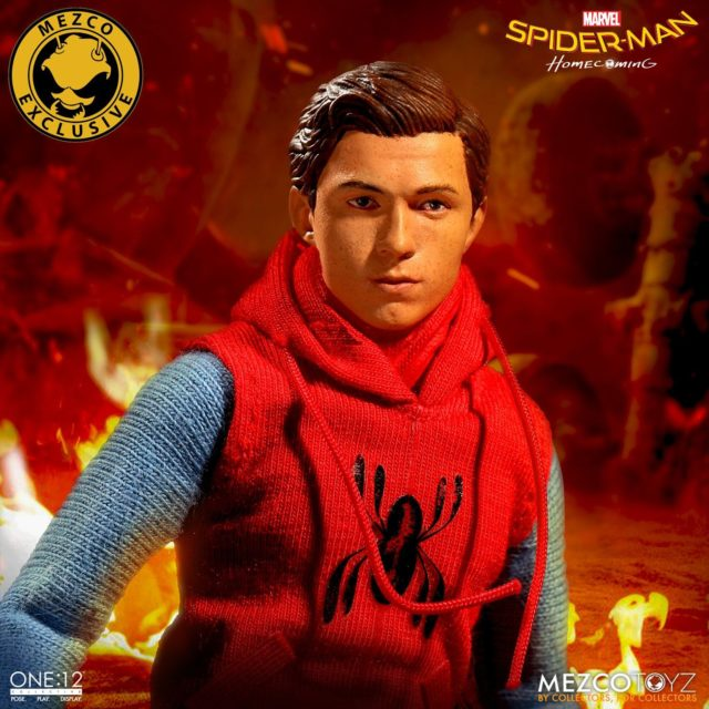 Mezco ONE 12 Collective Tom Holland Head Homemade Suit Spider-Man