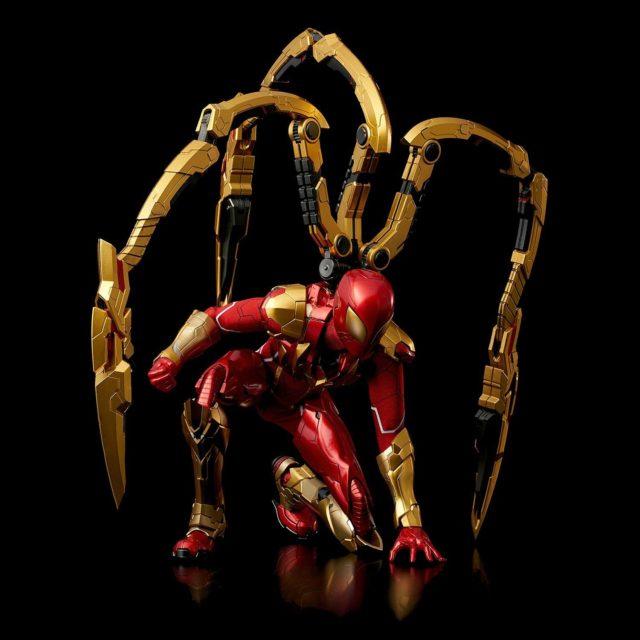 Sentinel RE EDIT Iron Spider-Man Figure Crouching