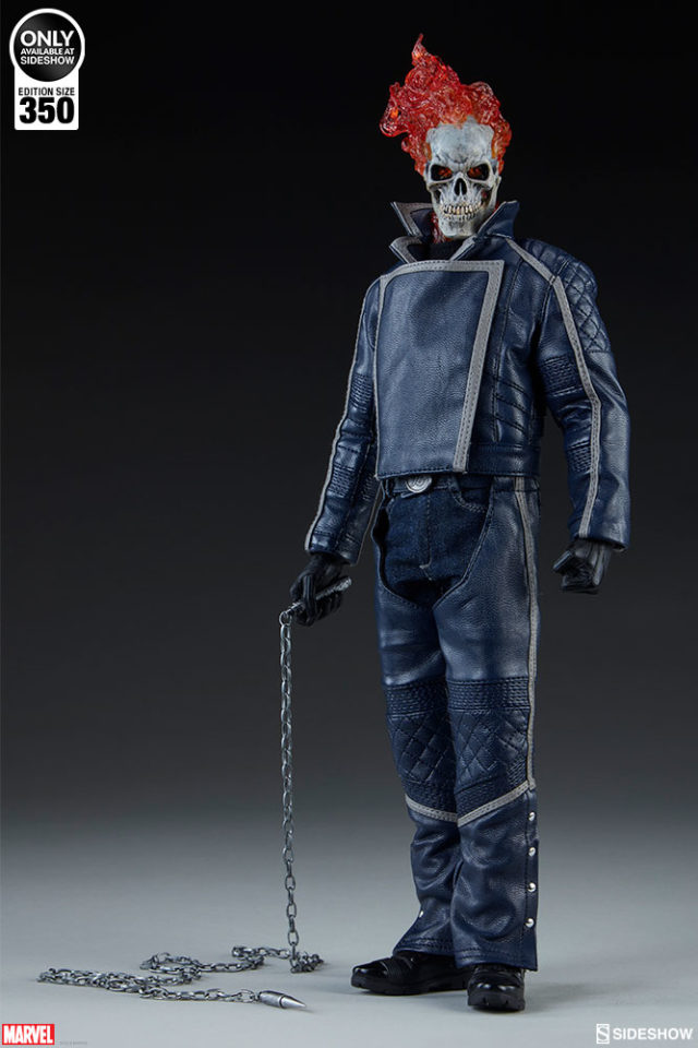 Sideshow Collectibles Classic Blue Ghost Rider Figure Exclusive