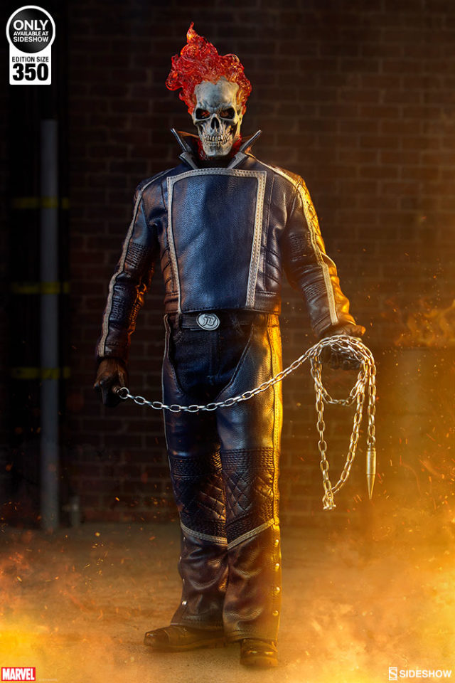Sideshow Exclusive Blue Ghost Rider Classic Sixth Scale Figure