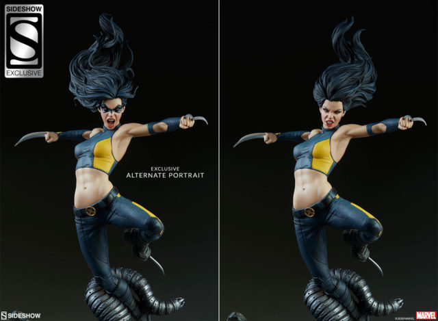 Sideshow Exclusive X-23 Head Comparison with Regular Head