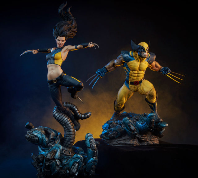 Sideshow Premium Format X-23 and Wolverine Statues