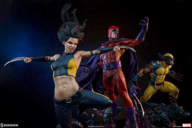 Sideshow X-Men Magneto Wolverine X-23 Premium Format Figure Statues