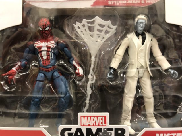 Close-Up of Hasbro PS4 Spider-Man vs. Mr. Negative Action Figures