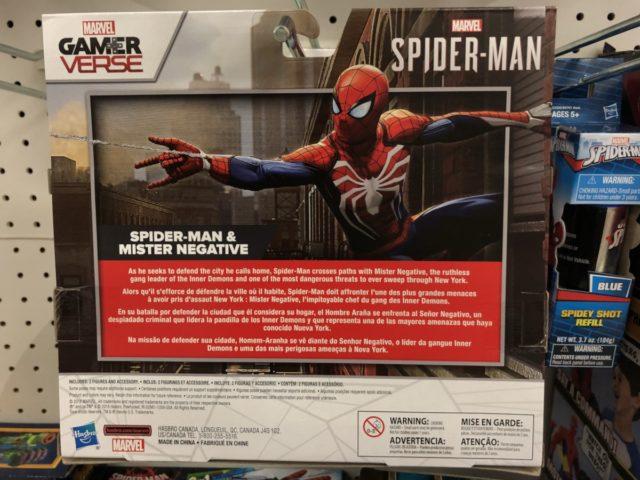 Box Back Hasbro Marvel GamerVerse Spider-Man PS4 Figures