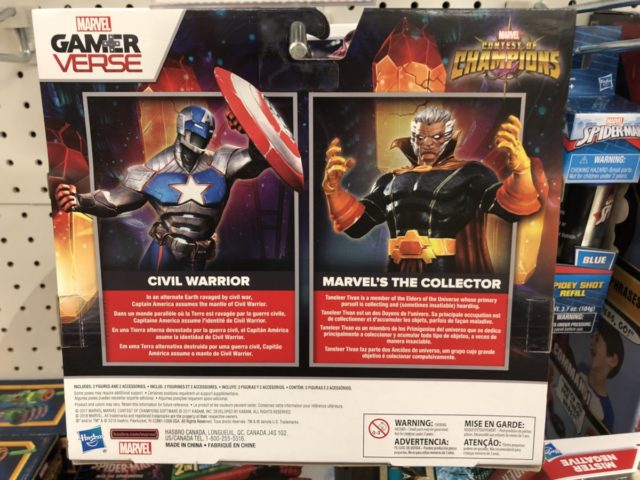 Box Back Hasbro Marvel Contest of Champions Action Figures