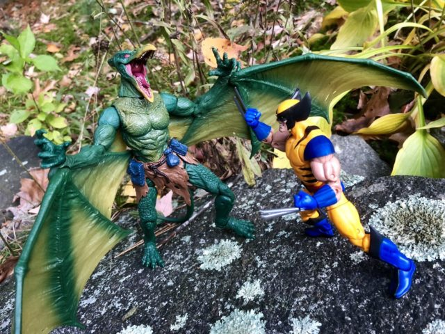 Marvel Legends Sauron Figure vs Wolverine