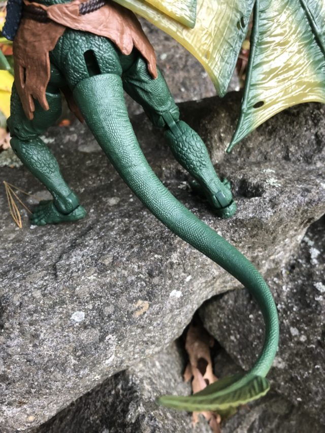 Close-Up of Hasbro Sauron Marvel Legends Figure Tail