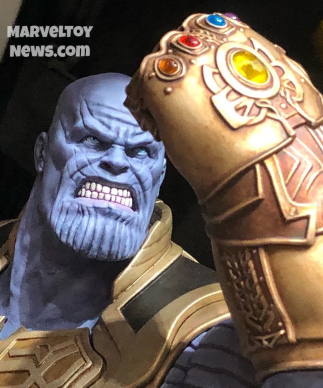 Marvel Milestones Infinity War Thanos Statue Close-Up