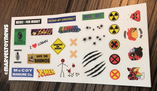 Marvel Legends Deadpool Scooter Stickers Sheet