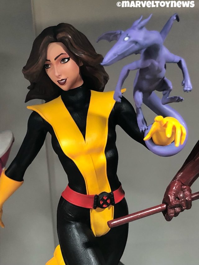 Marvel Premier Collection Kitty Pryde Statue Close-Up