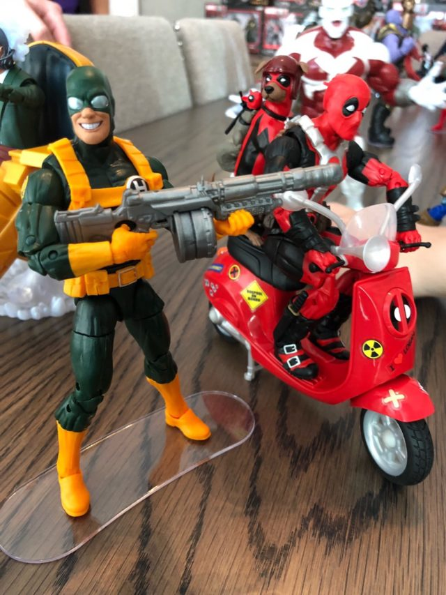 Marvel Legends Bob Agent of Hydra Figure Head with Deadpool Riders Set